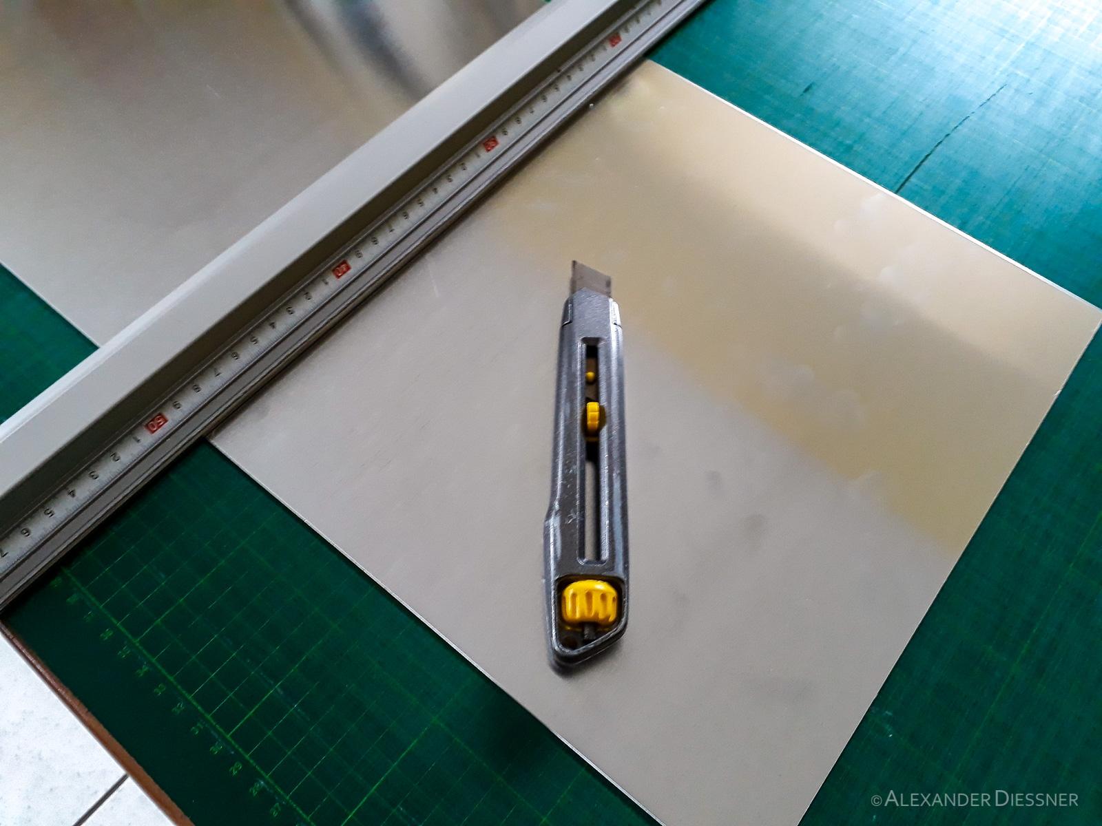 DIY Alukoffer Trennwand Messer