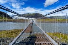 Flaajökull Gletzerzunge Brücke