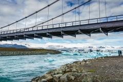 Jökulsarlon Gletscherlagune Brücke