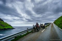 Hartmut auf dem Weg nach Tjørnuvík.
